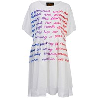 Vivienne Westwood Anglomania Women's Groan Baby T Shirt Dress White