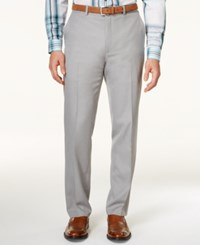 Alfani Red Men's Big And Tall Light Gray Flat Front Dress Pants Only At Macy's