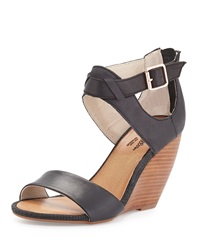 Seychelles All The Way Leather Wedge Sandal Black