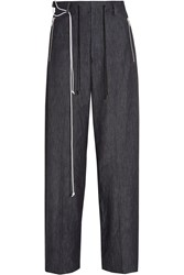 Tim Coppens High Rise Wide Leg Jeans Dark Denim