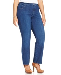 Lee Platinum Plus Size Relaxed Fit Straight Leg Jeans Authentic