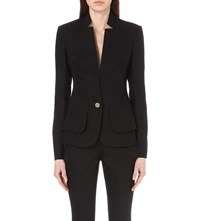Ted Baker Layered Cotton Blend Suit Blazer Black