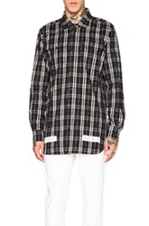 Off White Check Shirt In Black Checkered And Plaid
