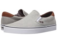 Vans Slip On 59 Oxford And Leather Black True White Skate Shoes Gray