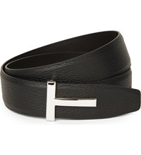 Tom Ford T Icon Leather Belt Blk Ebony