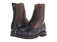 Frye Warren Duckboot Black Multi Wp Smooth Pull Up Shearling Lined Men's Boots Brown