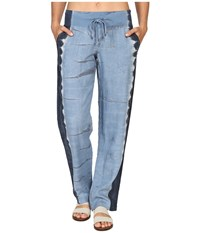 Hard Tail Racer Pants Electric Side Stripe 1 Women's Casual Pants Blue