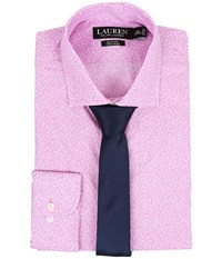 Lauren Ralph Lauren Slim Estate Collar Pink Floral Men's Long Sleeve Button Up
