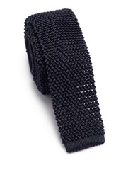 Ralph Lauren Knit Silk Tie Navy