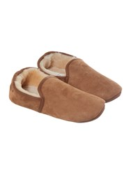 Just Sheepskin Men's Closed Back Classic Garrick Slipper Chestnut