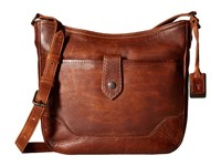 Frye Melissa Button Crossbody Cognac Cross Body Handbags Tan