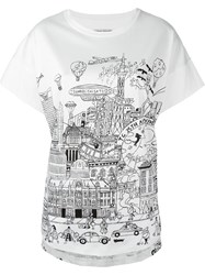 Tsumori Chisato '25Th Anniversary' Print Relaxed Fit T Shirt White