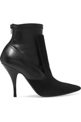 Givenchy Ankle Boots In Black Suede And Stretch Leather