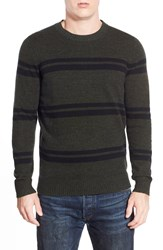 Ben Sherman 'The Stripe' Crew Neck Sweater Evergreen