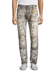 Robin's Jeans Tailored Fit Distressed Grey White