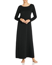 Natori Brushed Lounger Gown Black