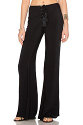 Indah Electric Lace Up Flare Pant Black