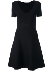 Alexander Wang T By Crisscross Waist Dress Black