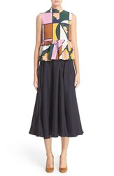 Roksanda Ilincic Women's 'Hamilton' Sleeveless Silk Peplum Top