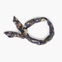 J.Crew Drake's For Square Silk Scarf Navy Driftwood Multi