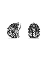 David Yurman Tempo Earrings With Black Spinel Silver