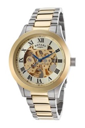 Rotary Men's Two Tone Stainless Steel Automatic Watch No Color