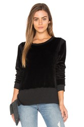Nation Ltd. Gemma Velvet Sweatshirt Black