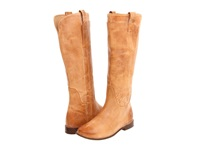 Frye Paige Tall Riding Saddle Burnished Antique Leather Women's Pull On Boots Khaki