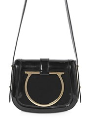 Salvatore Ferragamo Small Sabine Patent Leather Shoulder Bag