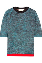 Marni Wool Blend Top Turquoise