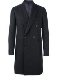 Paul Smith Ps By Double Breasted Coat Grey