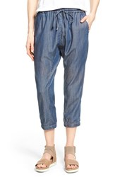Women's Eileen Fisher Chambray Drawstring Slouchy Ankle Pants