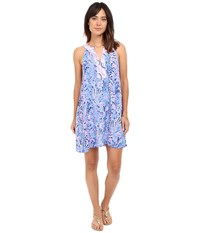Lilly Pulitzer Achelle Dress Multi Tic Tac Tile Engineered Women's Dress Blue