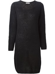 Societe Anonyme Longlseeved Knitted Dress Black