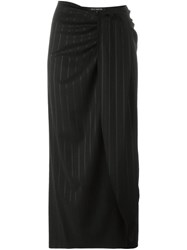 Ter Et Bantine Draped Front Skirt Black