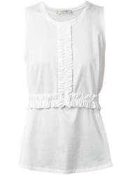 Schumacher Ruffle Detail Tank Top White