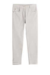 Brunello Cucinelli Stretch Cotton Cropped Jeans Grey