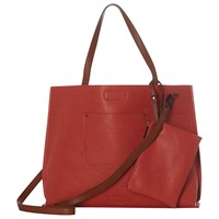 White Stuff Christie Reversible Tote Bag Coral Multi