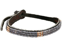 Chan Luu Adjust Beaded Pattern Single Bracelet Pewter Bracelet
