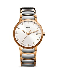 Rado Centrix Stainless Steel And Rose Gold Pvd Watch 38Mm