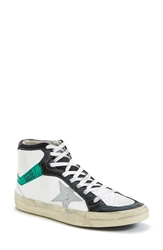 Golden Goose High Top Sneaker Women White Green Blue
