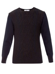Inis Meain Cable Knit Linen And Cotton Blend Sweater