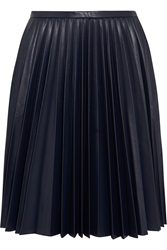 J.W.Anderson Pleated Faux Leather Skirt