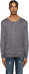 Balmain Pierre Grey Wool Henley