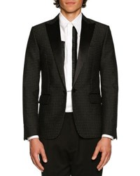 Dsquared Glam Rock Pin Dot Sport Coat Black Silver Multi
