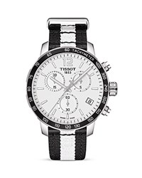 Tissot Brooklyn Nets Quickster Chronograph 42Mm Silver
