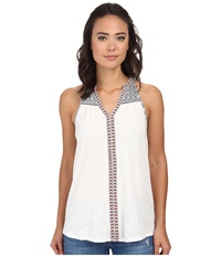 Gabriella Rocha Tribal Print Tank Ivory Women's Sleeveless White
