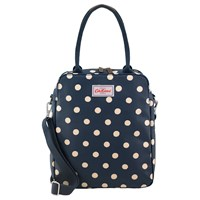 Cath Kidston Button Spot Tall Busy Shoulder Bag Navy