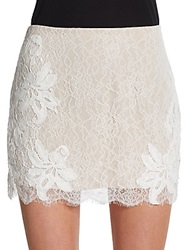 Haute Hippie Scalloped Lace Micro Mini Skirt