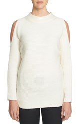 1.State Women's Cold Shoulder Sweater